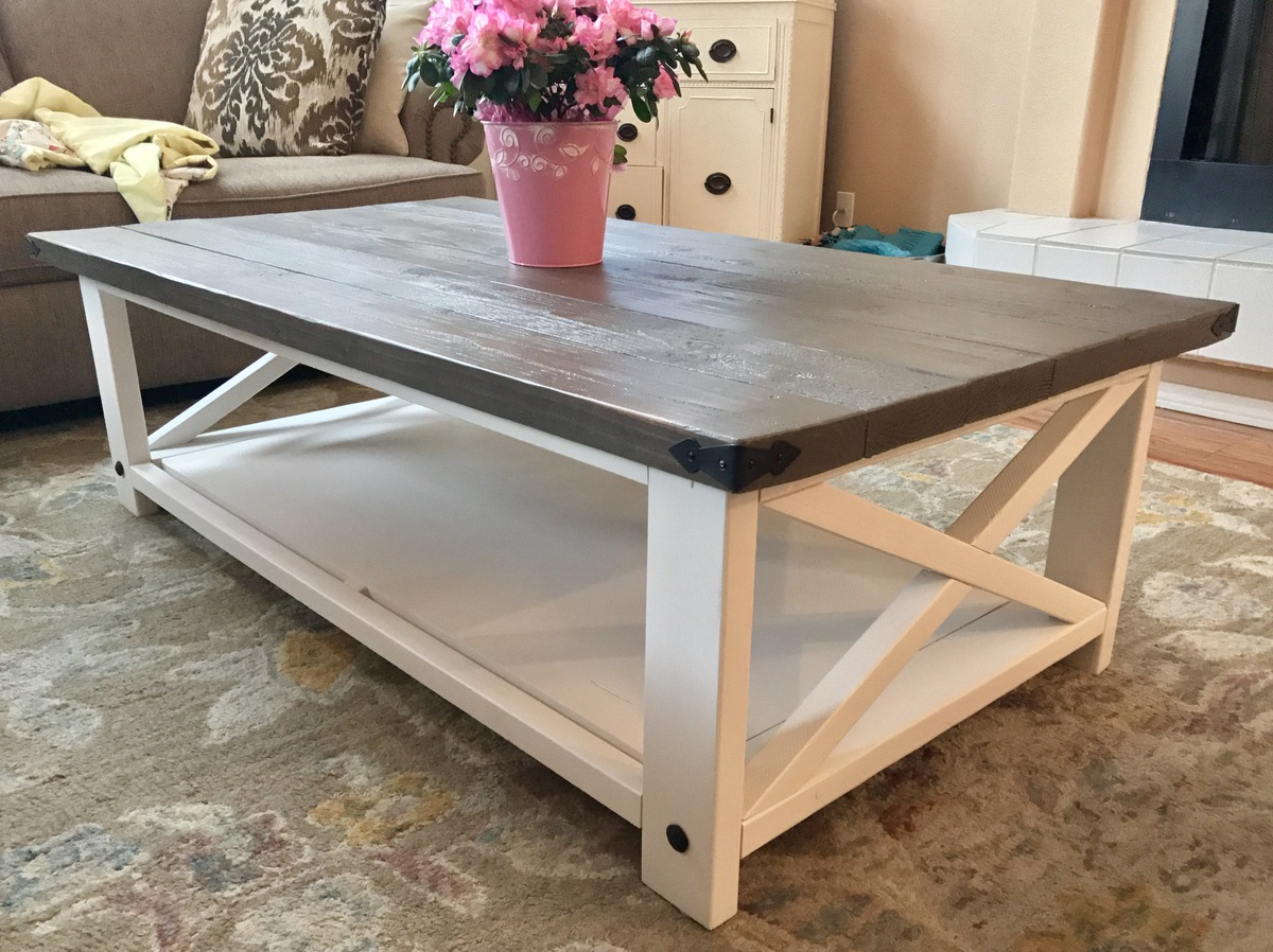 Diy End Tables Plans Ana White Larger Rustic X Coffee Table Diy Projects
