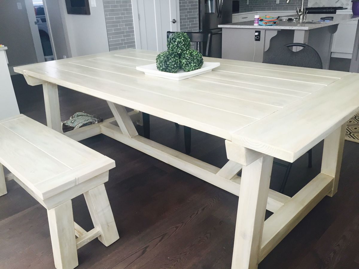 White Harvest Table Ana White Truss Harvest Table Diy Projects