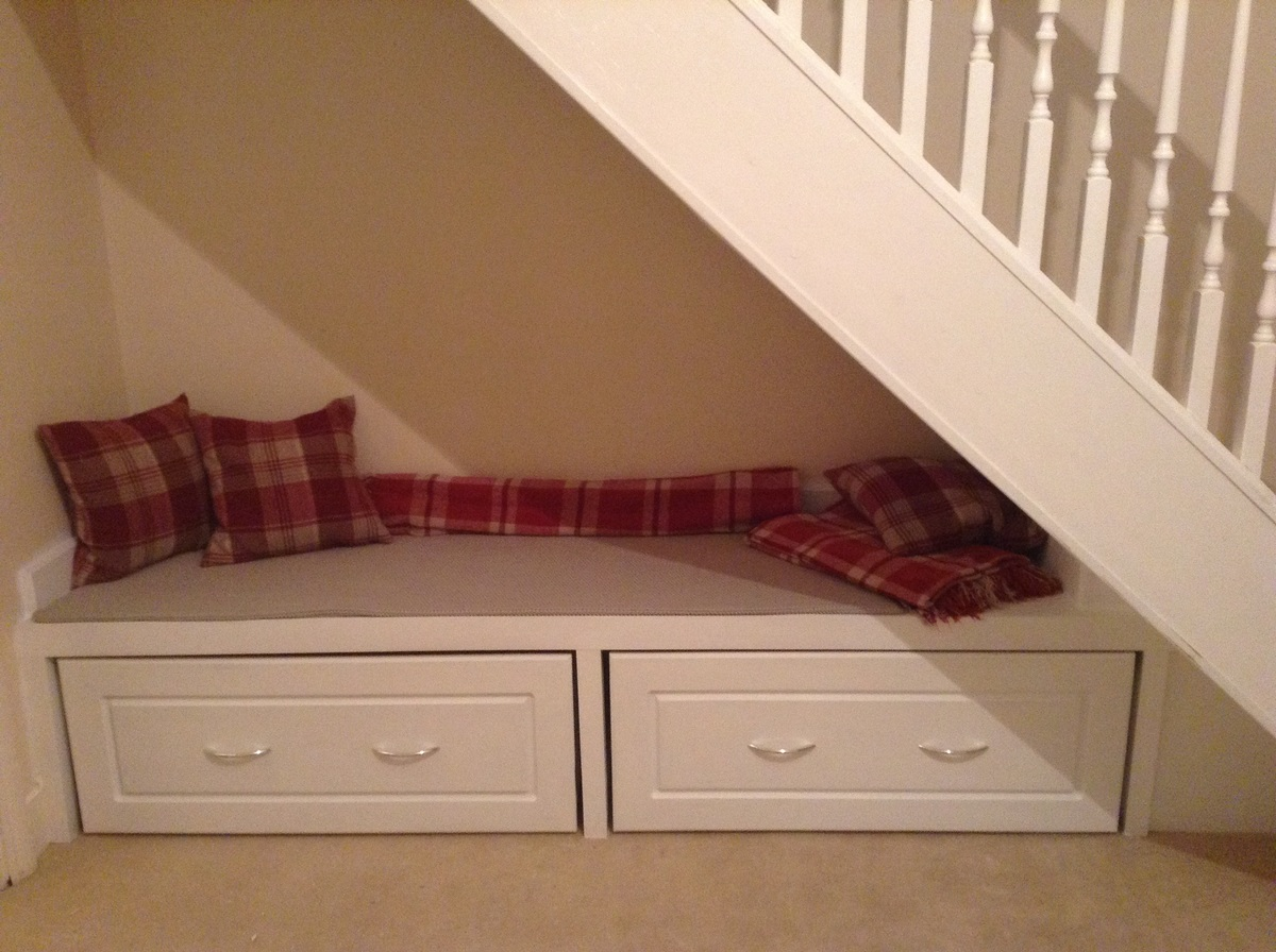 Seating With Storage Underneath Ana White Under Stair Storage Seat Diy Projects