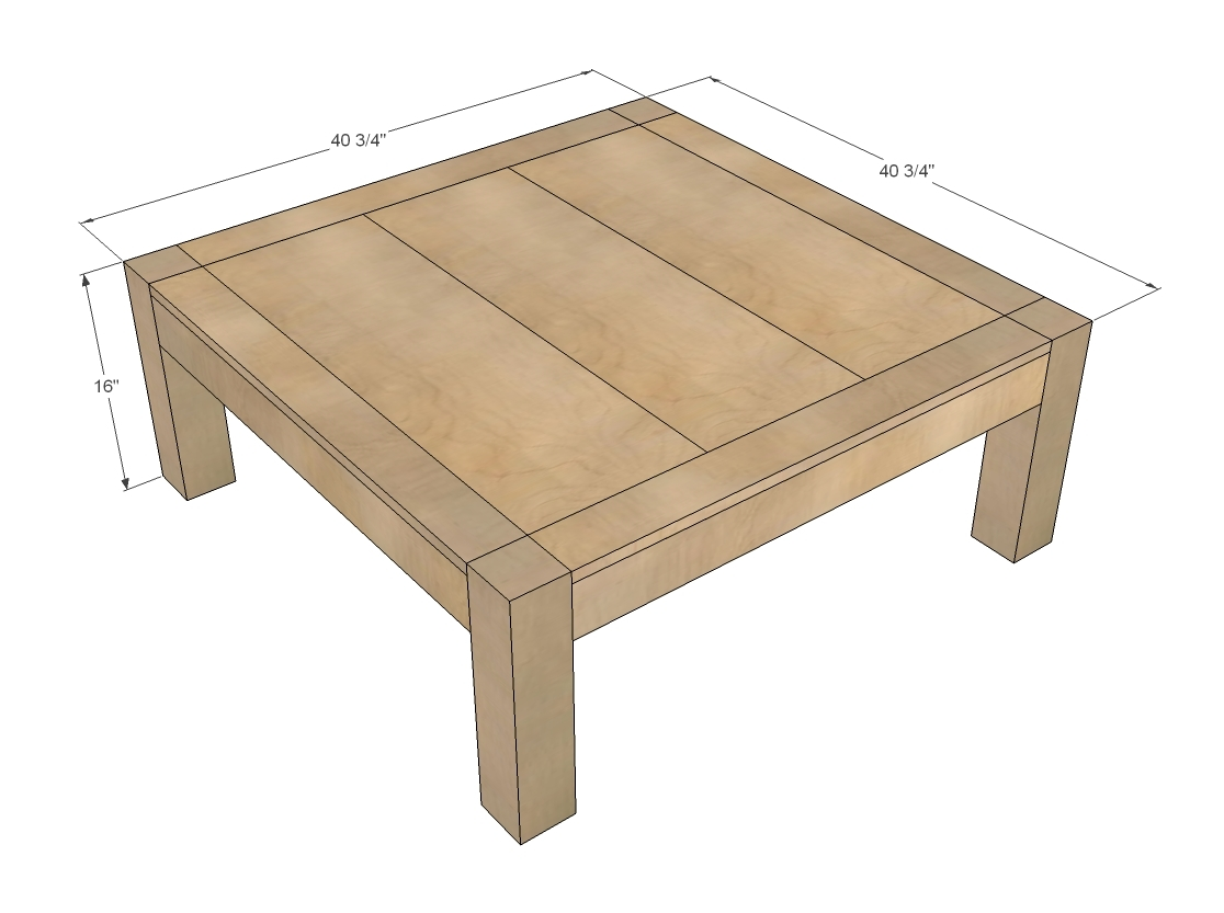 Square Coffee Table Plans Ana White Itable Diy Projects