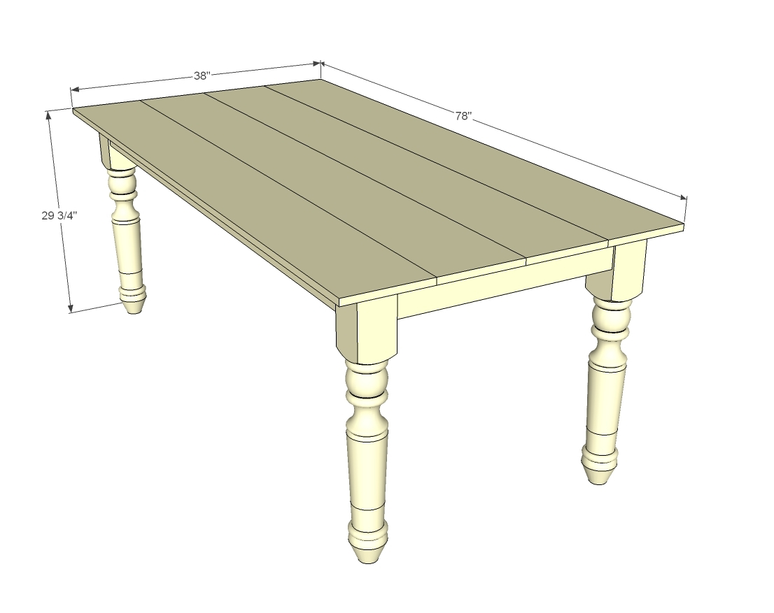 Diy Folding Dining Table Ana White Turned Leg Farmhouse Table Diy Projects