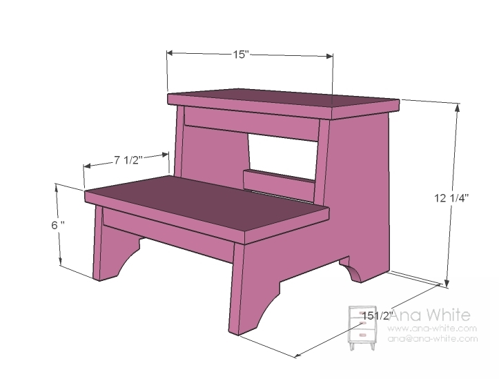 Folding step stool chair plans - Ana White Vintage Step Stool Diy Projects. Download  sc 1 st  New Minimalist House & Folding Step Stool Chair Plans islam-shia.org