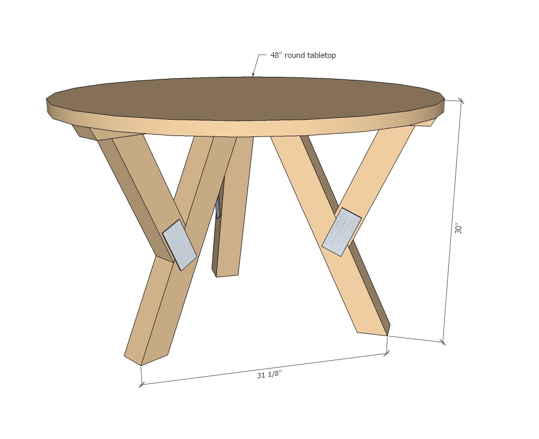 Diy Round Dining Table Plans Ana White Y Truss Round Table Diy Projects