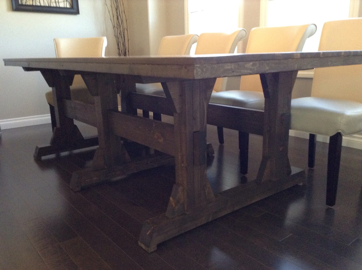 Diy Round Dining Table Plans Ana White Leave It To Joy Triple Pedestal Wide Farmhouse
