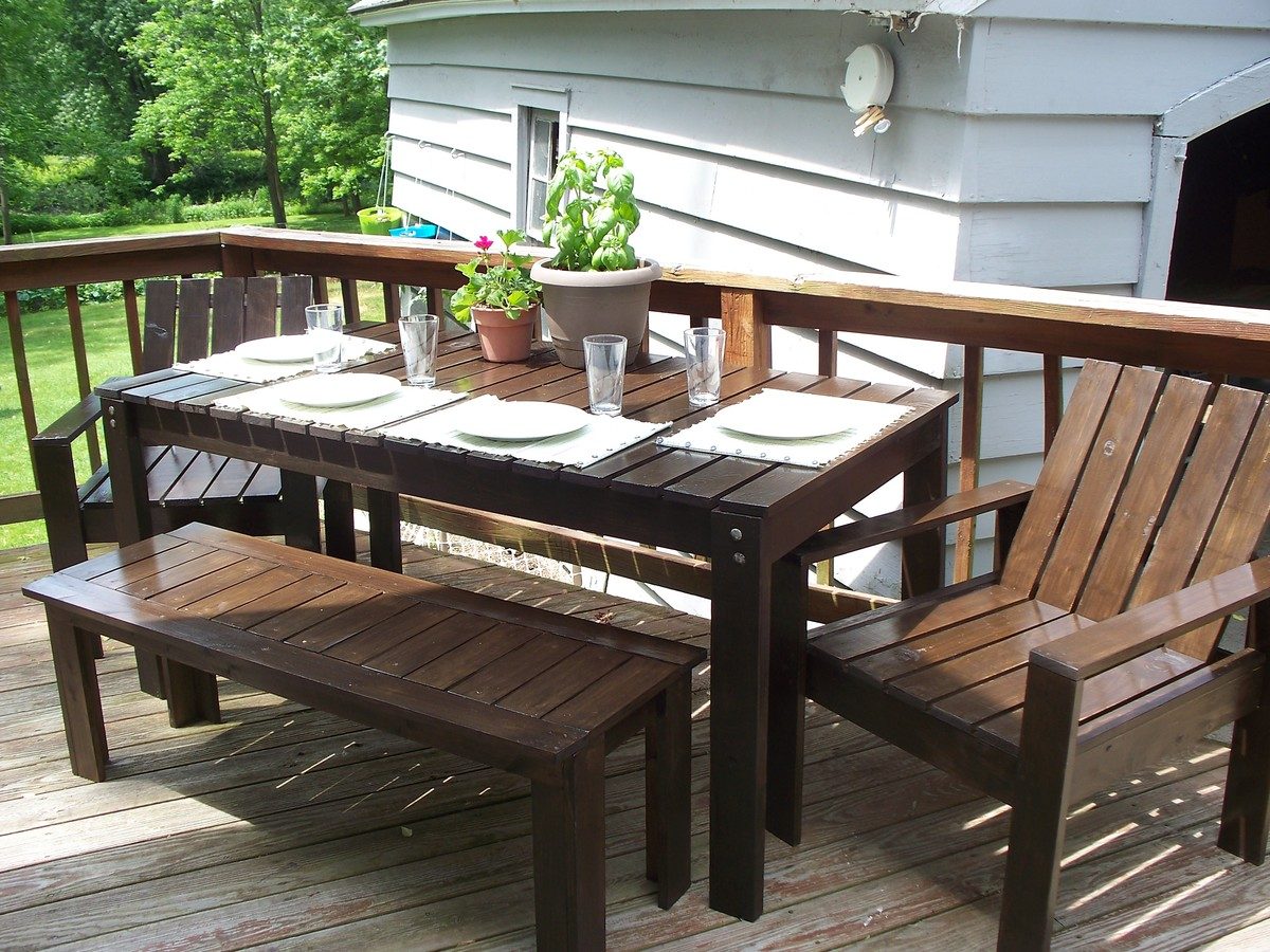 Diy Patio Table And Chairs Ana White Simple Outdoor Collection Diy Projects