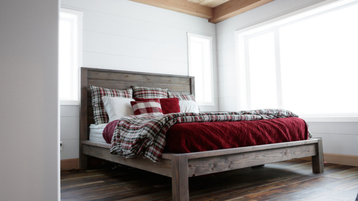 Farmhouse Futon Ana White Modern Farmhouse Bed Diy Projects