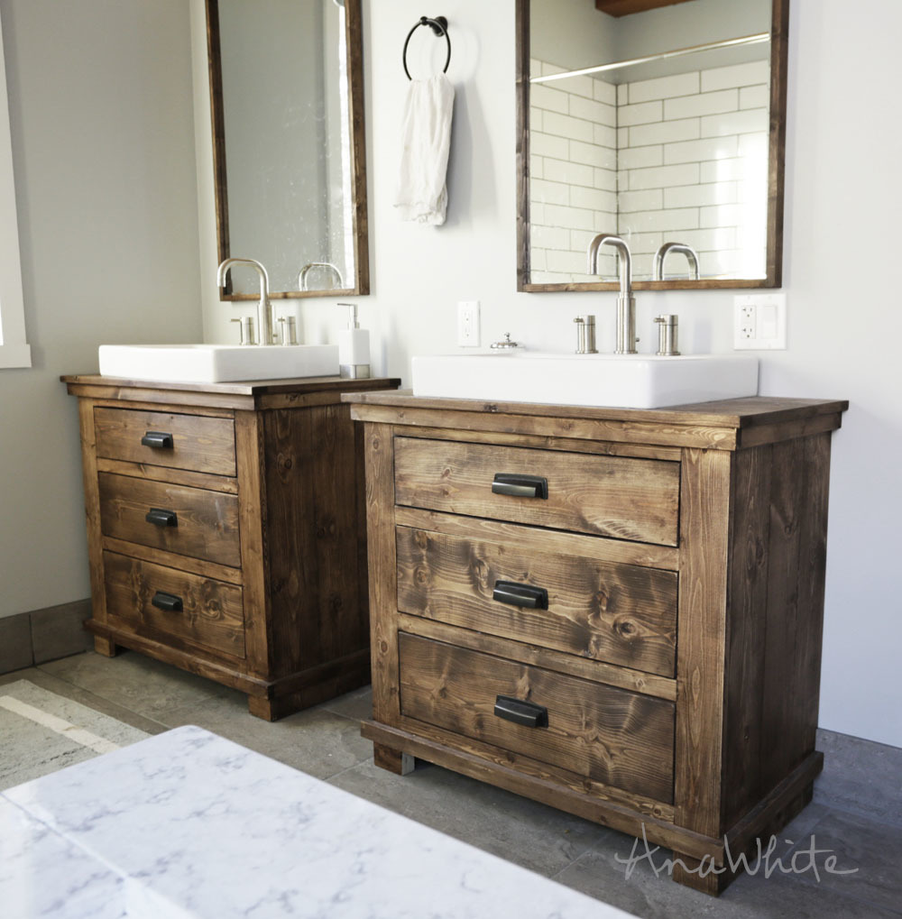 How To Make A Bathroom Vanity Cabinet Ana White Rustic Bathroom Vanities Diy Projects