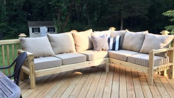 Patio Sectional Plans Outdoor Projects | Ana White