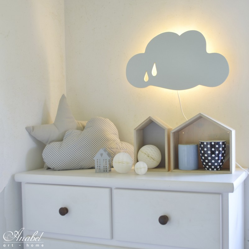 Decoracion Lamparas Techo Nube Lámpara Infantil De Pared, Applique Murale Nuage