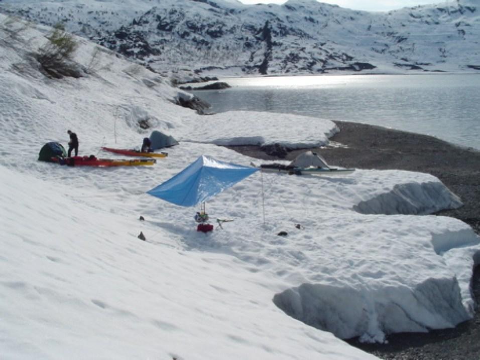 Early season camping in Shoup Bay.May 2004.