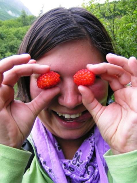 Seeing the world through salmon berry lens