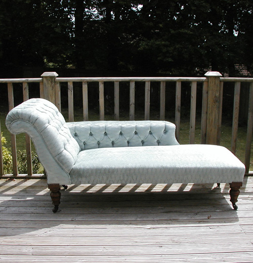 Wooden Sofa Victorian Chaise Longue