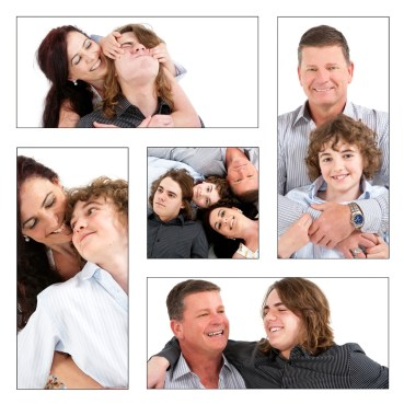Family group montage portrait professional studio photography by Anais Chaine in Auckland Ponsonby New Zealand