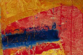 Henri Castella, French painter, Lyon La croix rousse detail. Abstract painting. Colorfull.
