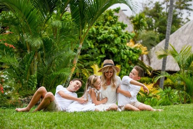 Family tickling fight