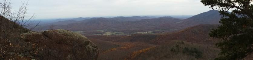 Blue Ridge Mountains Autumn Panorama