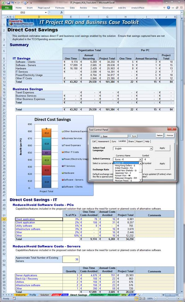 IT Project ROI and Business Case Toolkit - it project business case template