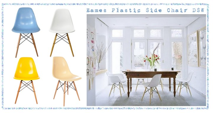 SILLAS EAMES PLASTIC SIDE CHAIR DSW