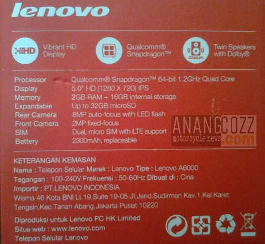 Hands On Lenovo A6000 Maksimal Dengan RAM 2GB Anangcozz Blog