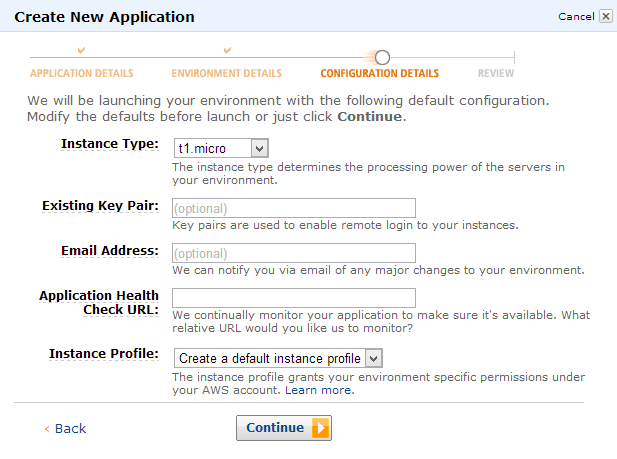 Amazon Elastic Beanstalk - Choose server size