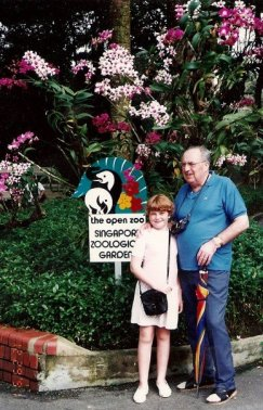 Singapore Zoo- Grandpa and Me