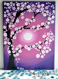 Monday Magenta ~ Cherry Blossoms Acrylic Painting on ...