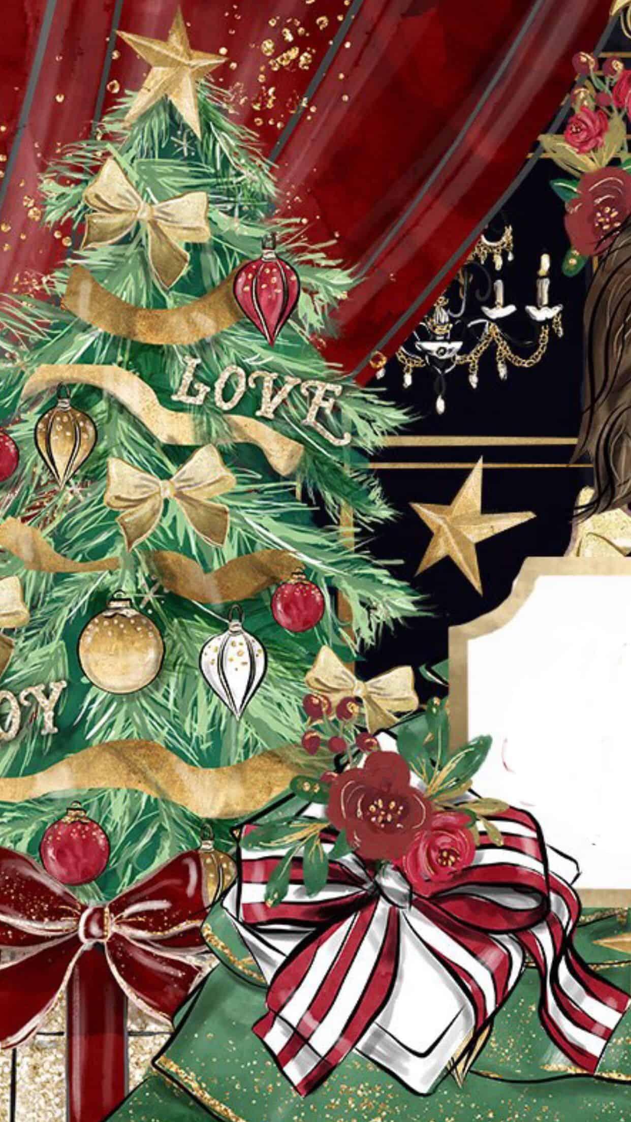 Cute Christmas Wallpaper Holy Vaultradio Co