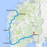 План дорожного путешествия по Норвегии