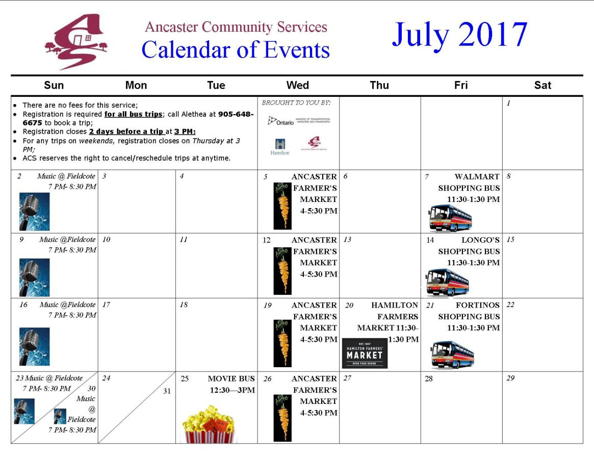 CB Events-Shopping Bus Calendar 2017 - July