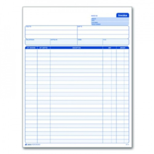 adams invoice forms