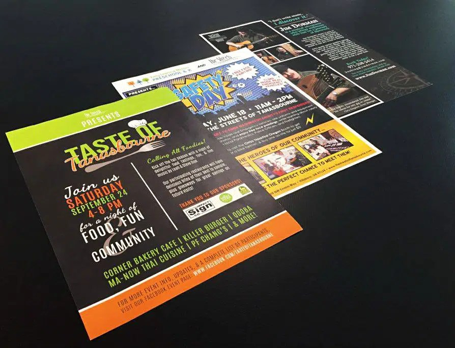 AnchorPointe Graphics - Flyers - Digital Color or BW - examples of a flyer
