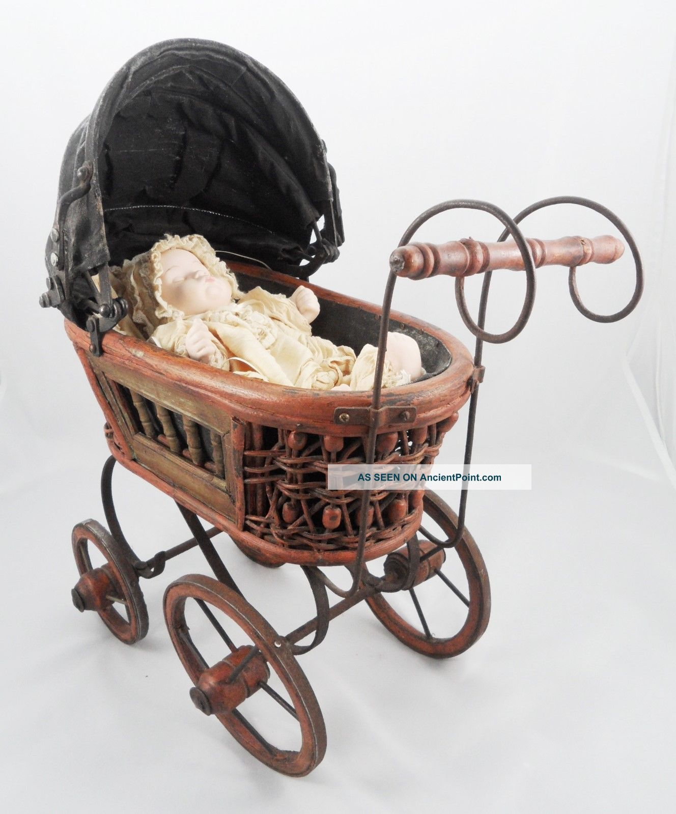 Vintage Toy Stroller Vintage Repro German Baby Doll Stroller Carriage Buggy