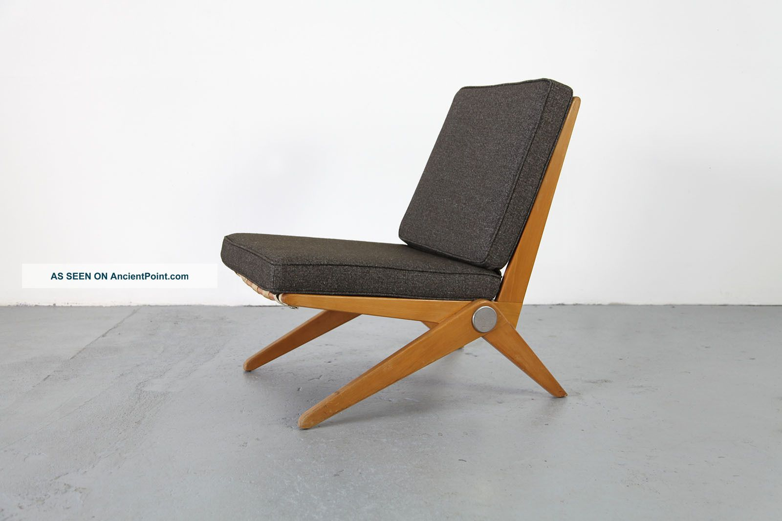 Scissor Chair By Pierre Jeanneret Knoll International 50s Mid Century Sessel
