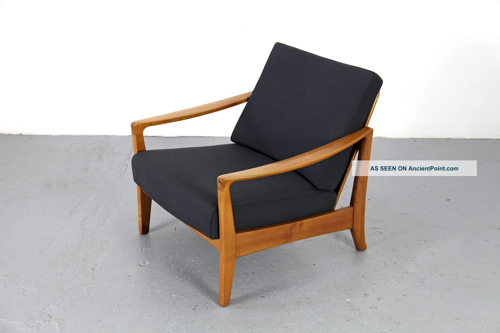 Sessel Modern Mid Century Easy Chair 50s 60s Danish Modern Kirschholz Sessel