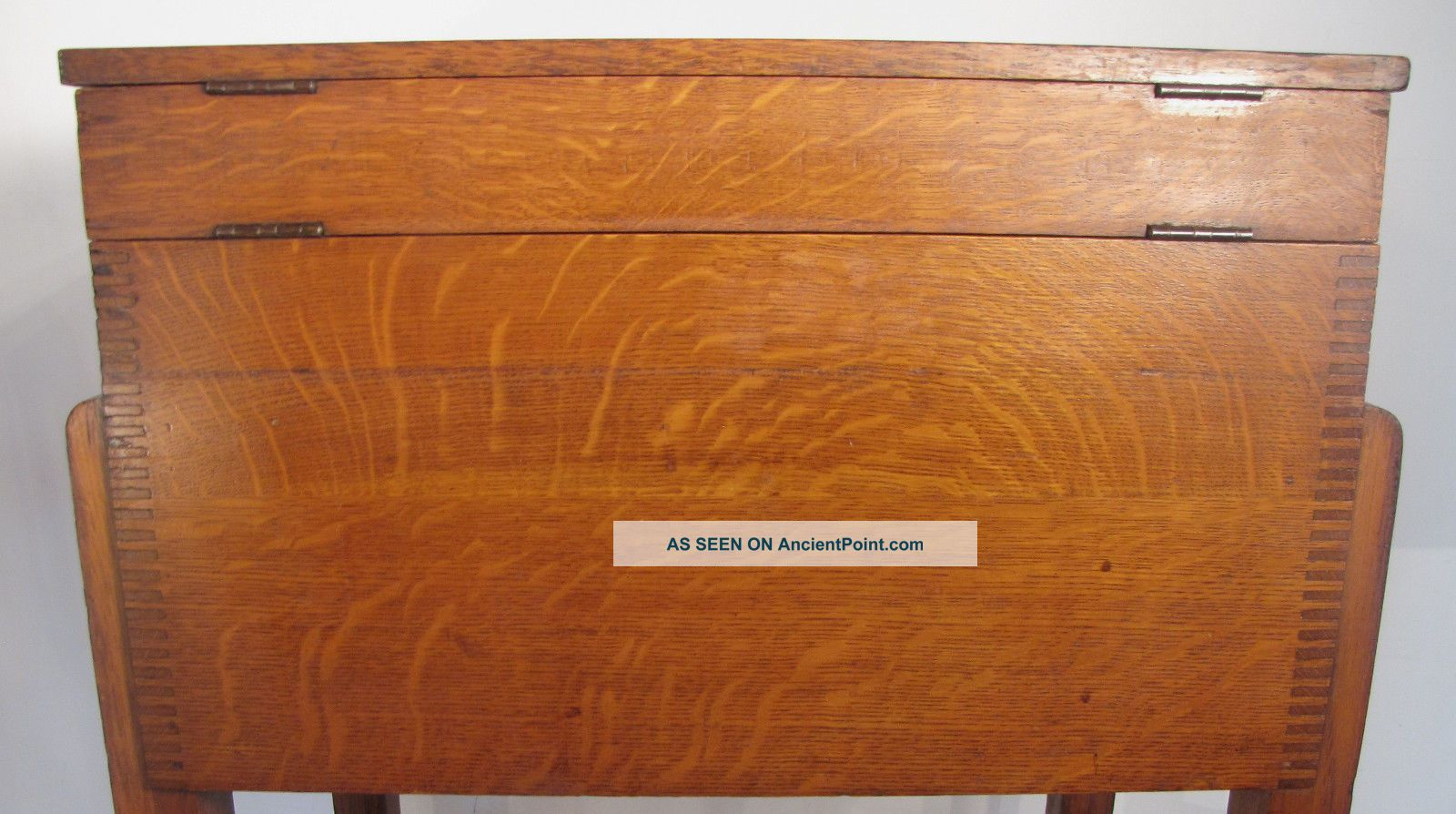 Antique Weis Top Opening Standing Quartered Oak File Cabinet