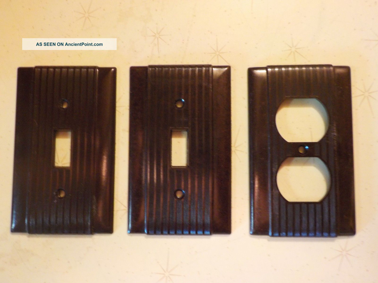 Vintage Light Switch Plate Covers Vintage Uniline Brown Bakelite Switch Plate Covers 2 Light