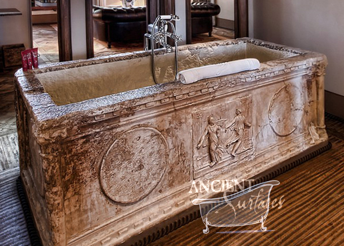 Houzz Benches Antique And New Limestone And Marble Bath Tubs By Ancient