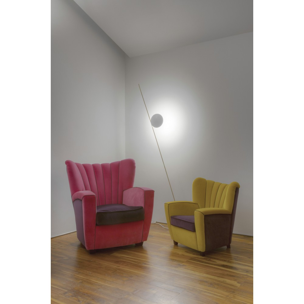 Lampadaire Exterieur Orientable Catellani & Smith Lederam F1 Lampe De Sol Led Design