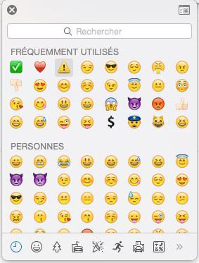 OS X : Emoji partout