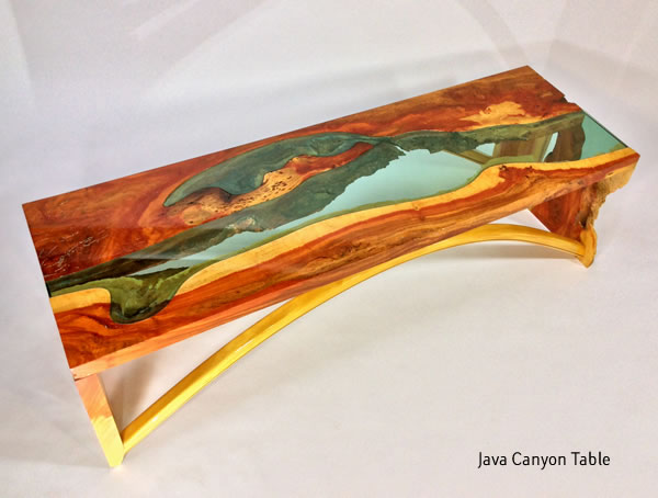 Java Canyon Hand Crafted Wooden Table
