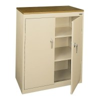 Sandusky Lee Storage Counter Height Cabinet | Anderson's ...