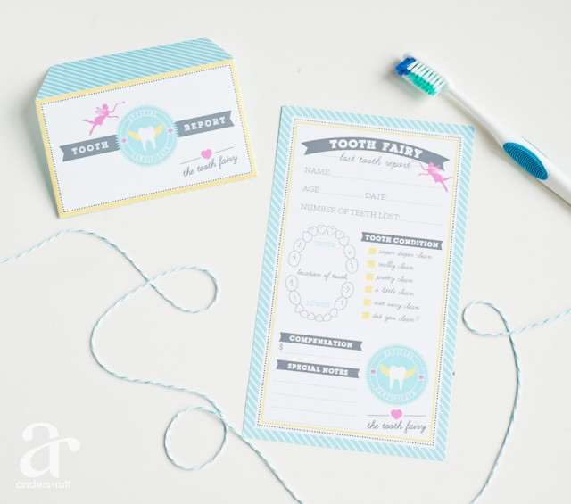 Printable Tooth Fairy Letter and Report - Anders Ruff Custom Designs