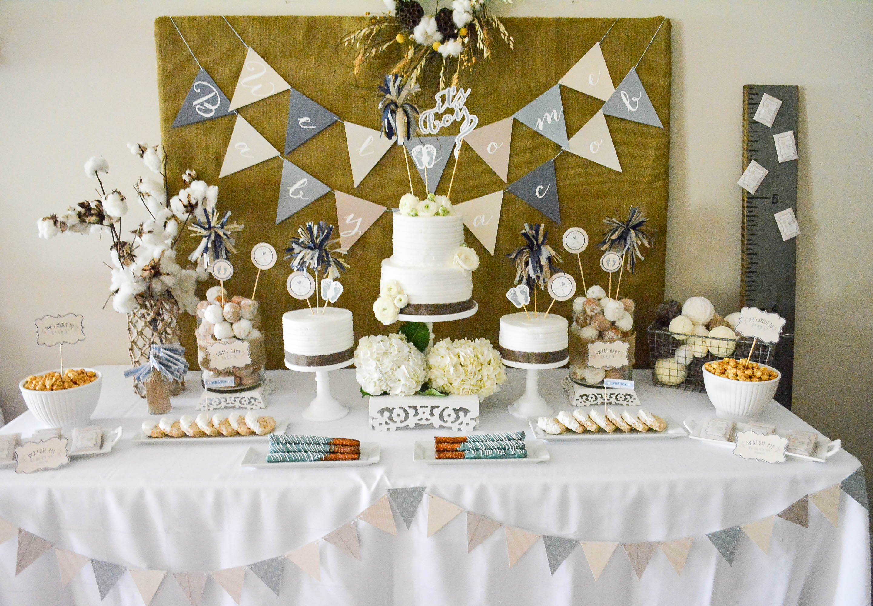 Rustic Baby Shower Decoration Ideas Baby Shower Decor Living Room