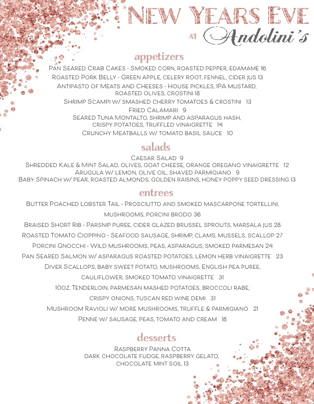 new years eve menu Archives - Andolinis Restaurant