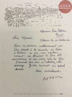 Courrier Hélène et André COTTAVOZ, signé par André COTTAVOZ