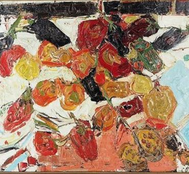 """COTTAVOZ, """" Aubergines, peppers"""" 1957 for sale."""