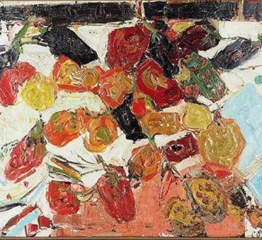 COTTAVOZ, «Poivrons et aubergines» 1957, en vente chez SADDE Dijon.