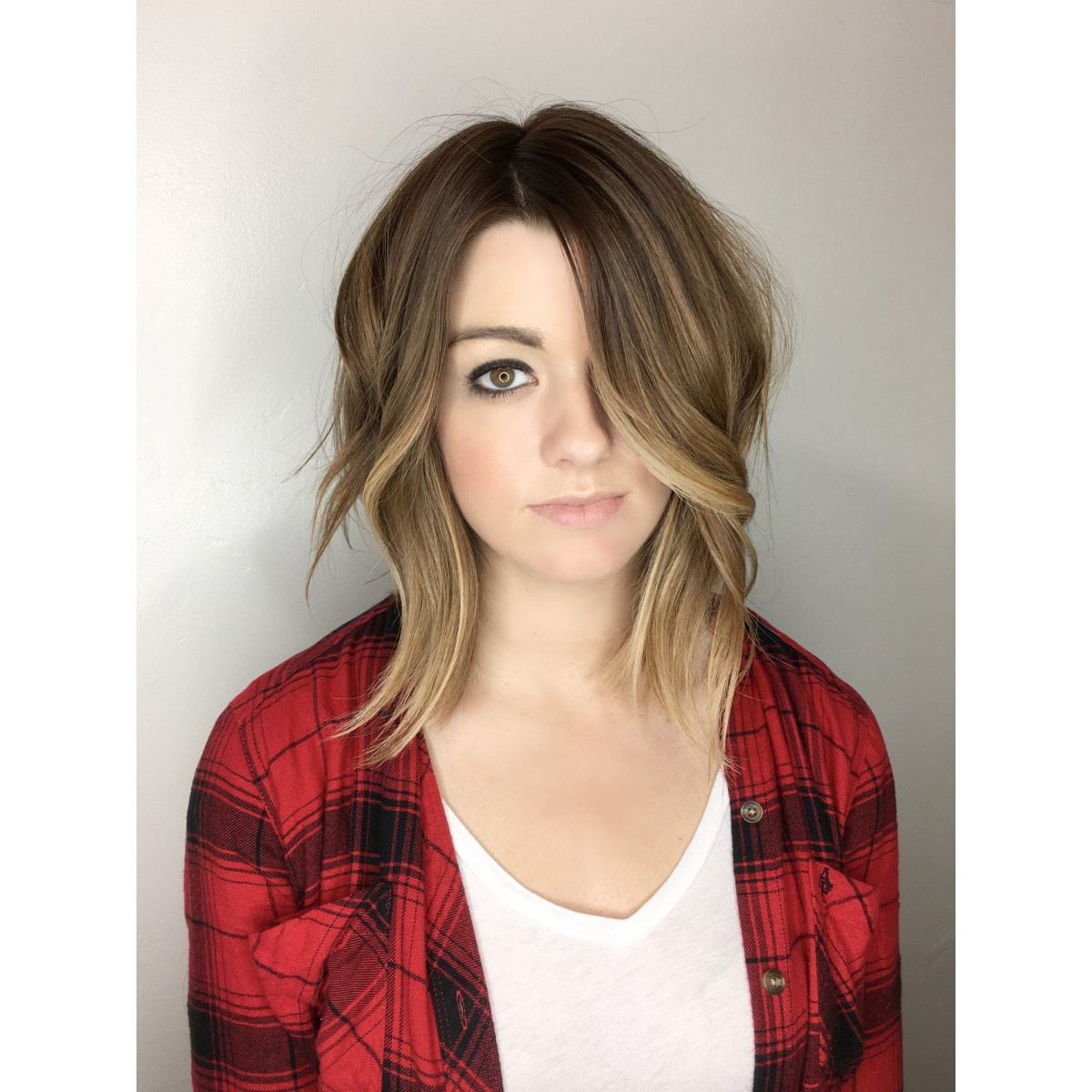 Balayage Ombre With Base Color Soft Undercut – Ombré Hair Painting Andrea Lefevre