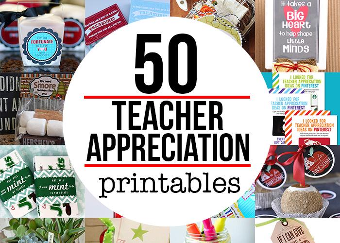 Teacher Appreciation Gift Printables Andrea39s Notebook