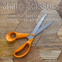 Keep Scissors Sharp